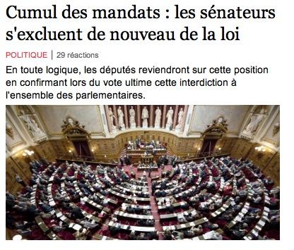 """La bonne blague. Cumul des mandats: """"les sénateurs s'excluent de nouveau de la loi"""" La_bel11"""