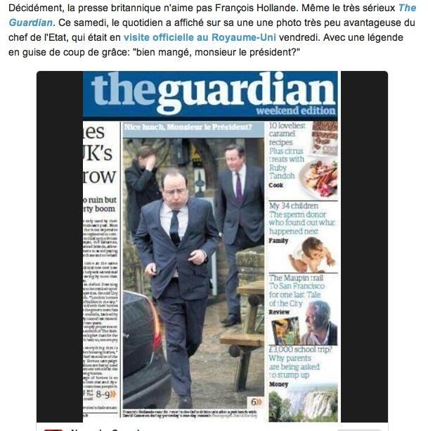 """Quand """"The Guardian"""" se paie le président de la république. Ravi_t12"""
