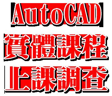 AutoCAD顧問實體課程上課調查! Autoca12