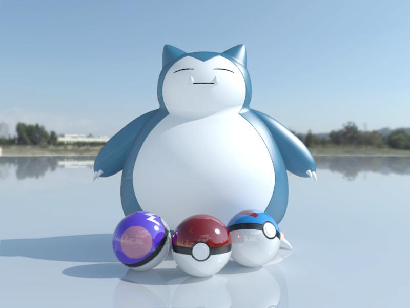 [作品]AutoCAD 3D Pokémon Go 卡比獸-進化了 Pokemo25