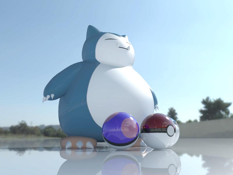 [作品]AutoCAD 3D Pokémon Go 卡比獸-進化了 Pokemo27