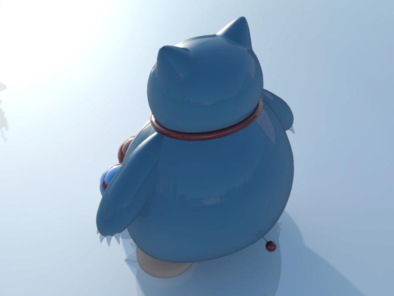 [作品]AutoCAD 3D Pokémon Go 卡比獸-進化了 Pokemo29