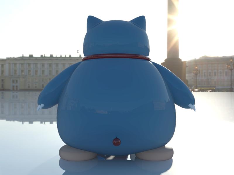 [作品]AutoCAD 3D Pokémon Go 卡比獸-進化了 Pokemo31