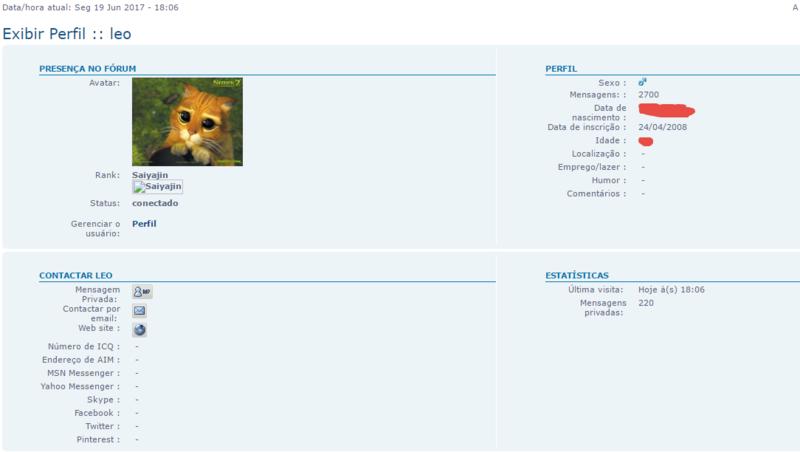 Todas as mensagens postadas por usuário Forume11