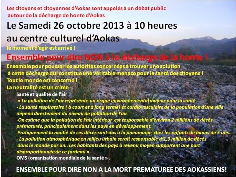 débat public  autour de la décharge de honte d'Aokas  Le Samedi 26 octobre 2013  Aokas11