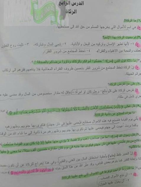 مرشحات الاسلامية للصف الثالث المتوسط 2018 فى العراق  1314