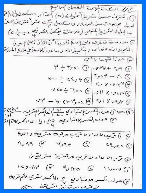 مرشحات الرياضيات للصف السادس الابتدائى 2018 1517