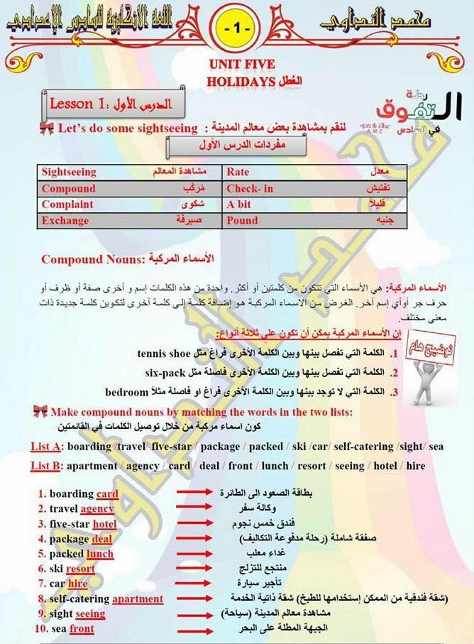 مرشحات انكليزى 2018 للسادس الاعدادى لنخبة من أساتذة العراق  E410