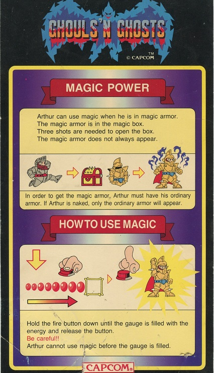 [Art CPS-1] Ghouls'n'Ghost instruction card  Gng10