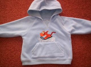 Boys blue tigger hooded jumper 100_2110