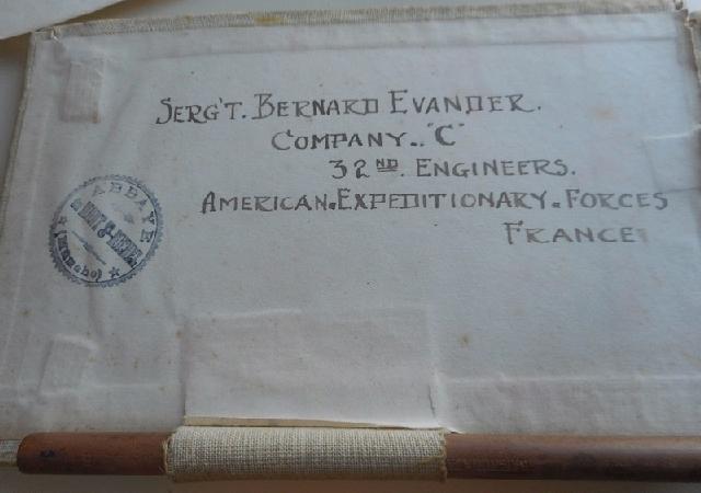 Ecrits & Dessins du Sergent Bernard EVANDER , 32nd Engineers , Company C 1a176
