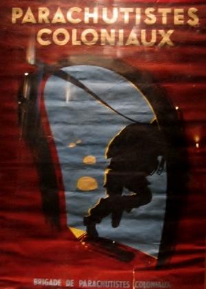 Affiche parachutistes coloniaux Rene-110