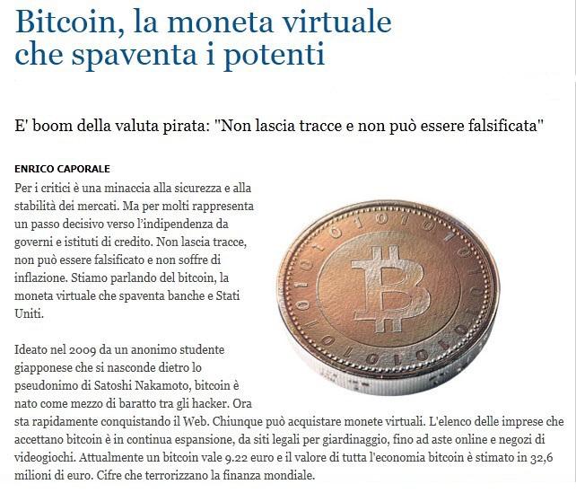 dal mondo........ Bitcoi10