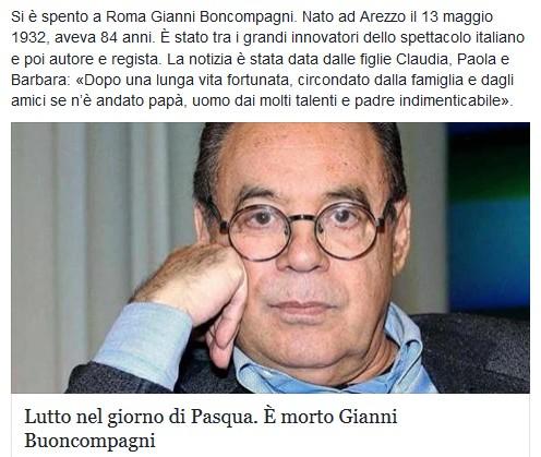 Addio a Gianni Boncompagni Lutto10