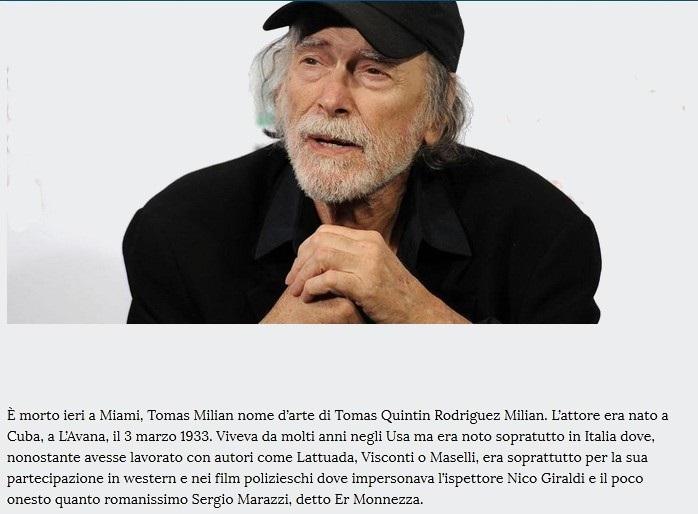 Addio a Tomas Milian Thomas10