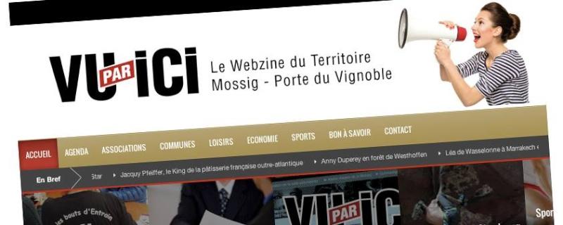 """"""" Vu par ici""""  un nouveau site d'information locale du territoire Mossig-Porte du Vignoble 14596810"""