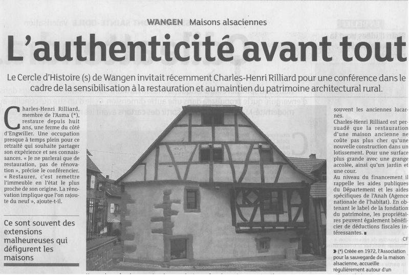 Conférence de M.Rilliard sur la restauration des maisons à colombages le 18 octobre 2013 à 20 h salle des fêtes de Wangen Skmbt_13