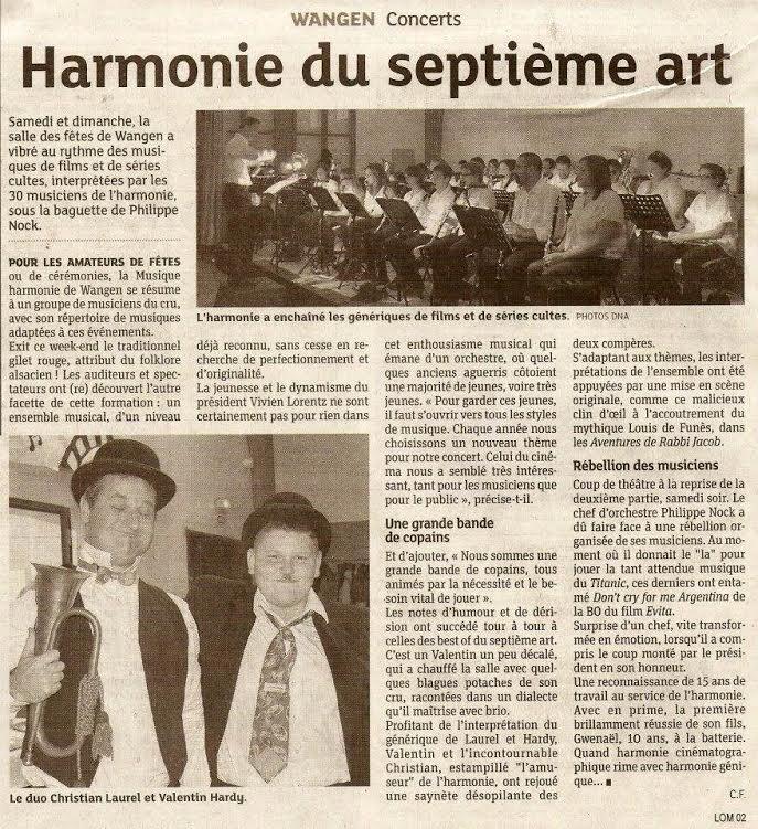 Concerts d'automne de la Musique Harmonie de Wangen les 16 et 17 novembre 2013 Unname10