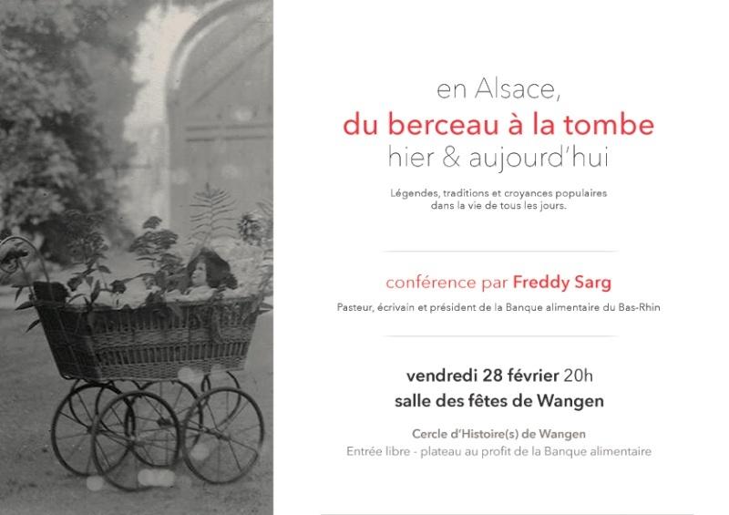 Conférence sur les légendes,traditions et croyances populaires en Alsace par Freddy Sarg le 28 février salle des fêtes de Wangen. Unname38