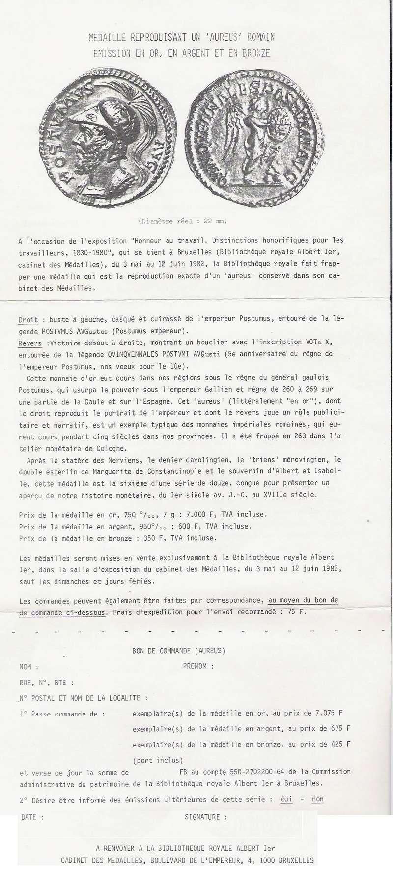 Faux, Copies , Reproductions modernes et Médailles commémoratives - Page 2 Postum11