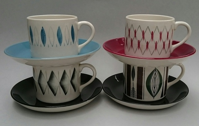 Cook & Serve cans and saucers that I purchased at the Swap-meet. Coffee11