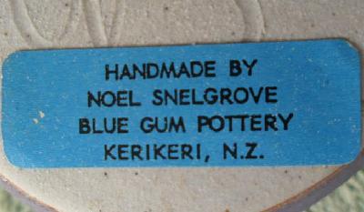 Noel Snelgrove Blue Gum Pottery Kerikeri NZ Snelgr11