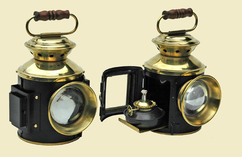 """4"""" scale Traction Engine Lamps for sale (NOW SOLD) Front-10"""