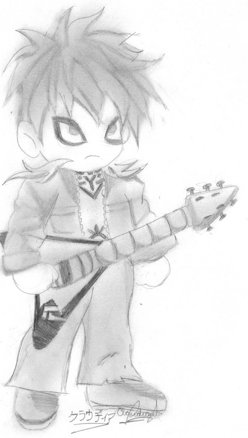 Un dibujo q me dedicaron a pedido xD Gaara_10