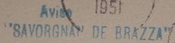 * SAVORGNAN DE BRAZZA (1933/1957) * 510110