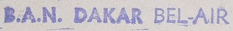 * DAKAR - BEL-AIR * 530710
