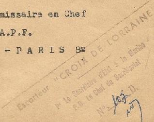 * CROIX DE LORRAINE (1944/1961) * 540310