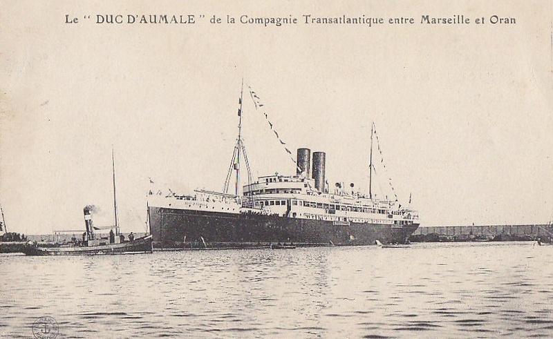 * DUC D'AUMALE (1916/1919 et 1939/1945) * 687_0010