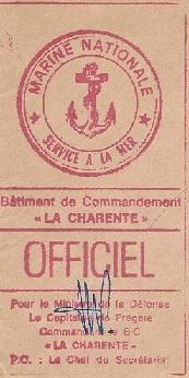 * LA CHARENTE (1964/1983) * 820210