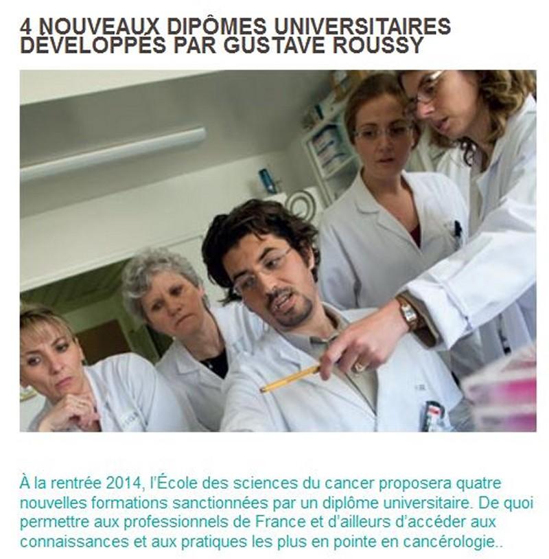 Gustave Roussy à la pointe de la Formation en cancérologie Igr22m10