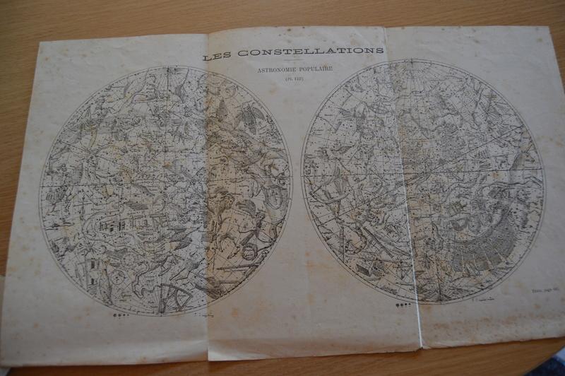 Carte du ciel et livre astronomique de 1880  Dsc_0124