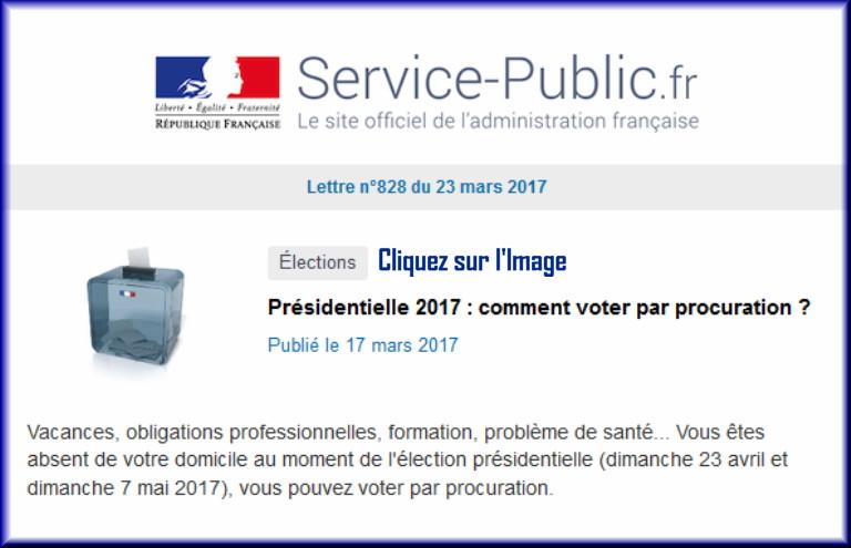 """La lettre N° 828 de """"Service Public"""" pour le 23 Mars 2017 82810"""