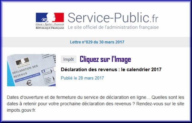 """La lettre N° 829 de """"Service Public"""" pour le 30 Mars 2017 82910"""
