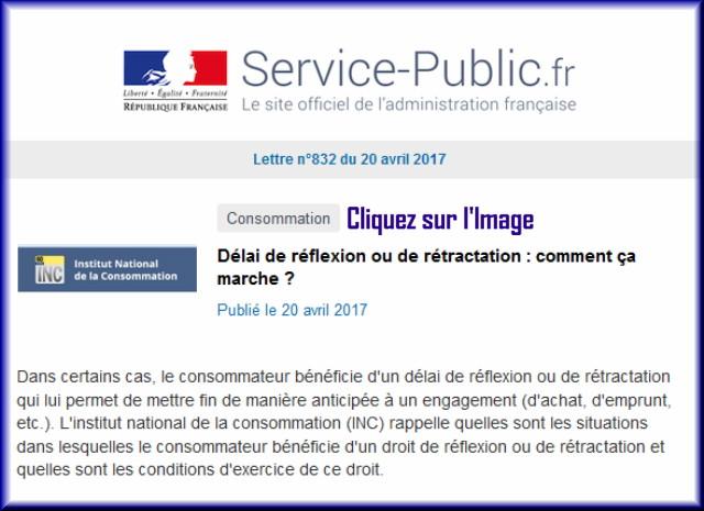"""La lettre N° 832 de """"Service Public"""" pour le 20 Avril 2017 83210"""