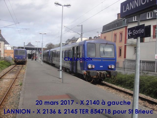 Lannnion : en X 2100 le TER 854718 (G) Lannio10