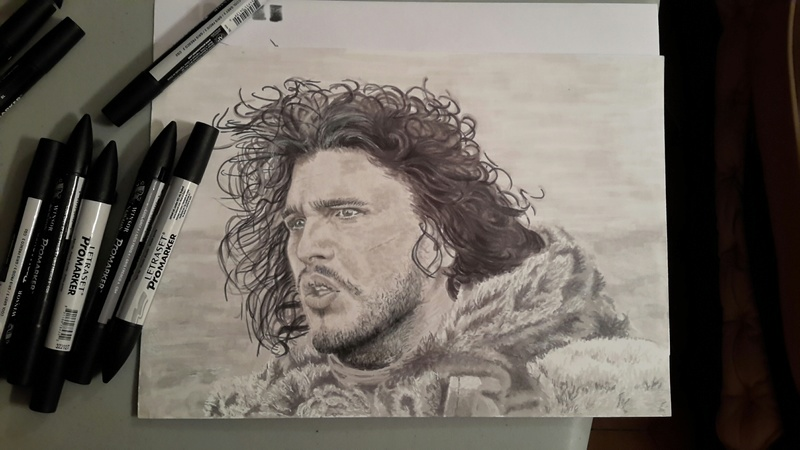 Portrait de Jon Snow ( Kit Harington ) Studio10
