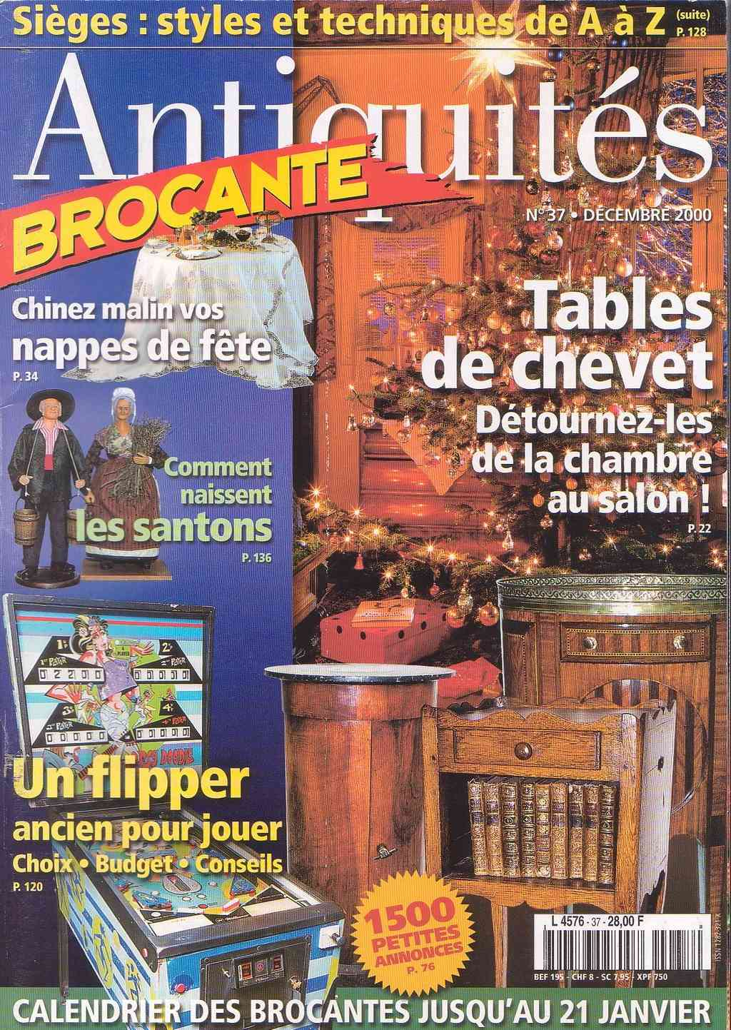 Magazine Antiquites Brocante Janvier 1998 37-110
