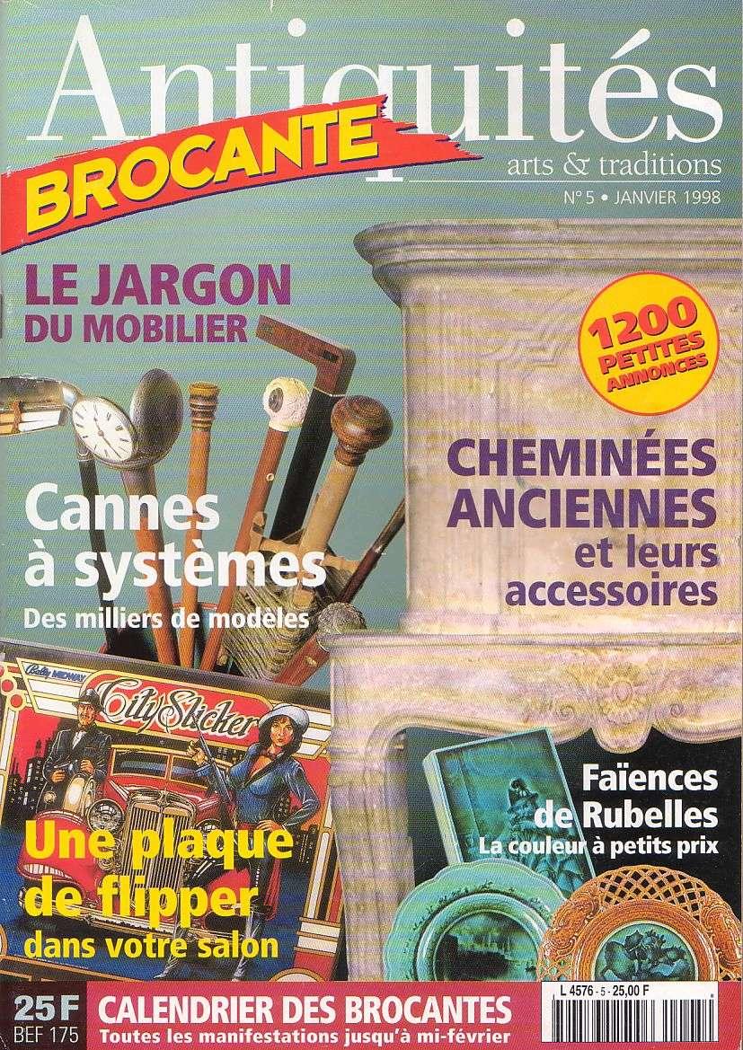 Magazine Antiquites Brocante Janvier 1998 5-110