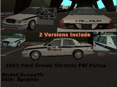 Ford Crown Victoria FBI Police Ffffff10