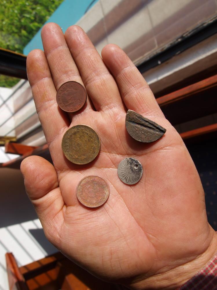 Dos prospecciones a la vez: fósiles y monedas Ol270610