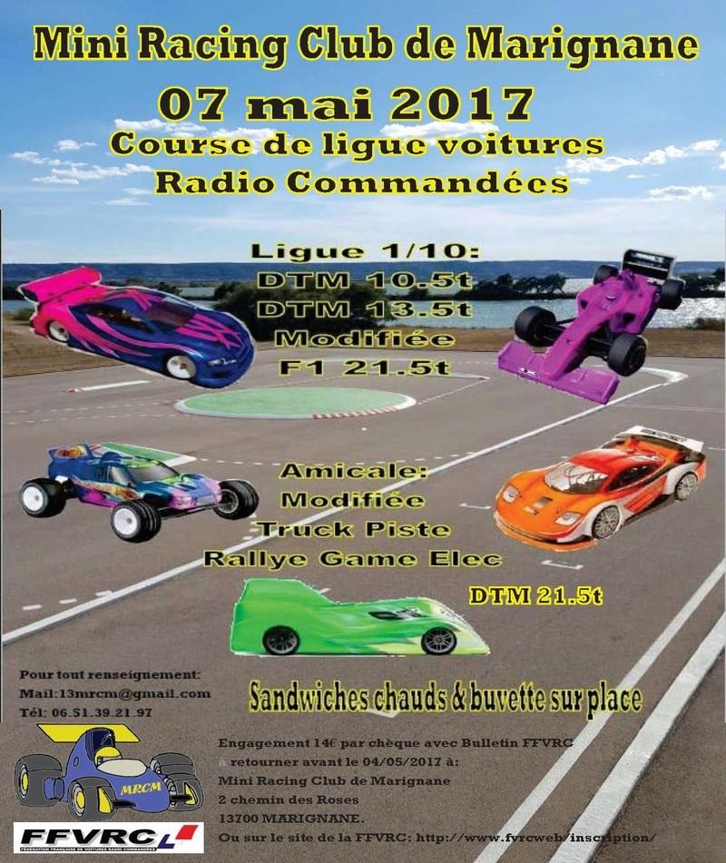 MRCM Marignane organise une course de ligue et amicale 1/10 et 1/8 le Dimanche 7 Mai 2017.  Course10
