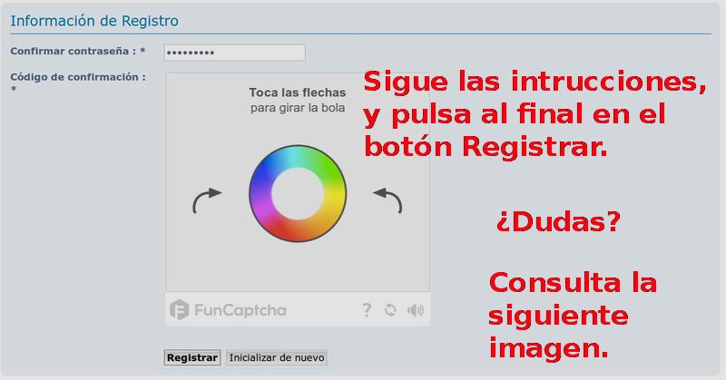 Instrucciones para el Registro en el FORO. Sin_no23