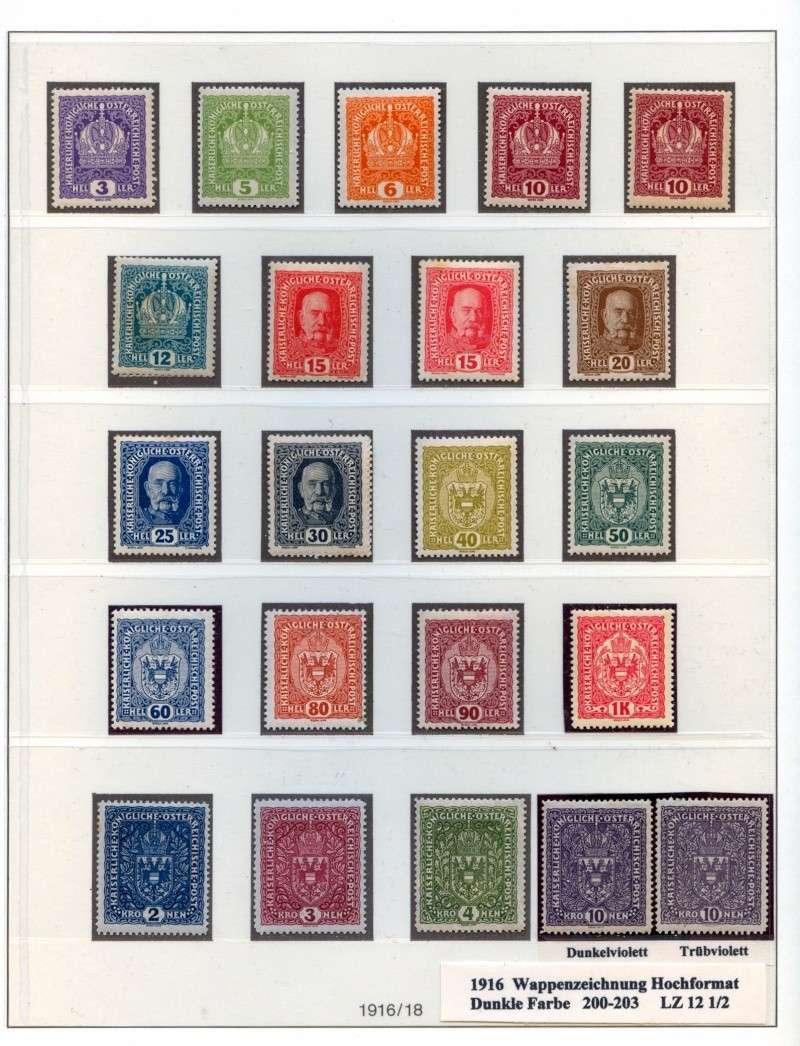 Österreich 1867-1918 200 Ii 26x29mm Wappen Gestempelt Österreich 1916 Nr