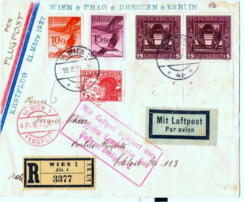 Ältere Flugpost aus Wien Scanne40