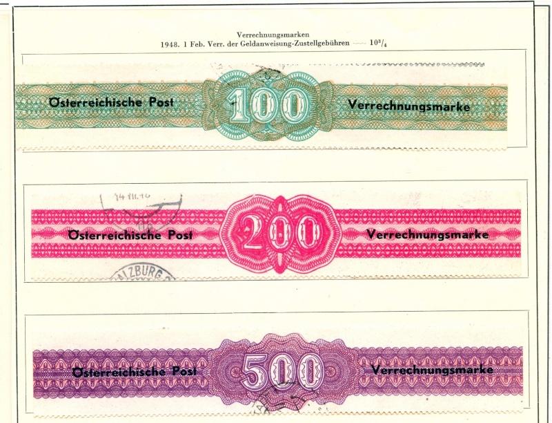 Verrechnungsmarken Österreich 1948 Scanne53