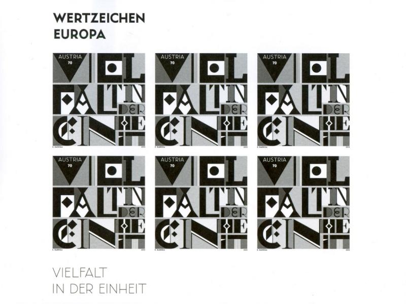 Österreich - Specimen, Schwarzdrucke, Buntdrucke Scanne55